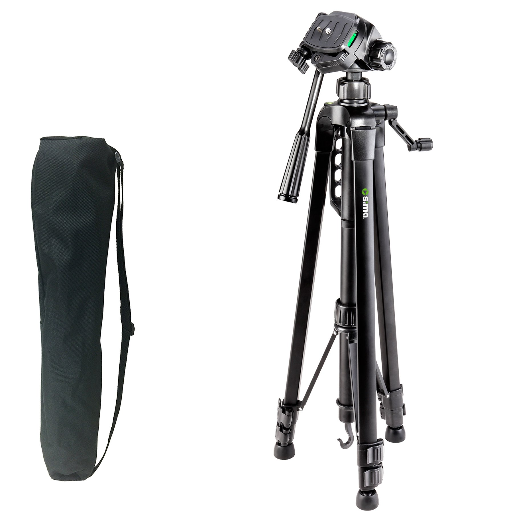Sima STV-66K 66'' Pro Panorama Tripod Includes Zippered Carry Bag with Carry Strap