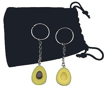 Avocado llavero llavero, lindo y adorable aguacate, 2 piezas ...