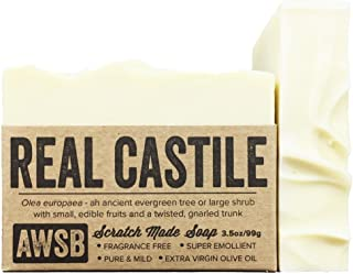 product image for (6 Pack) Real Castile Bar Soap, made with 100% Organic Olive Oil, All Natural, Vegan, for Super Sensitive Skin, Handmade by A Wild Soap Bar (6 pack)