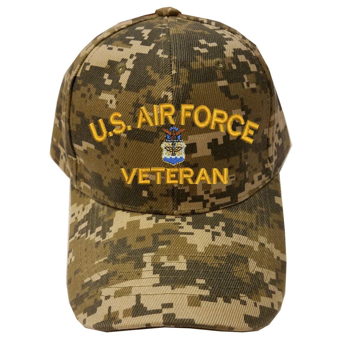 Military USAF U.S.Air force Veteran Digital Camo Baseball Cap Hat 1290a768d9a