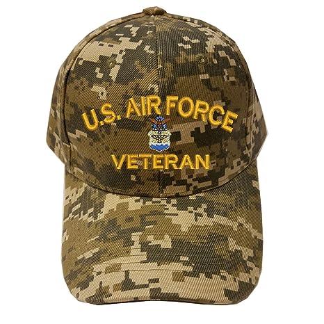 b0416f80d2ece Military USAF U.S.Air force Veteran Digital Camo Baseball Cap Hat