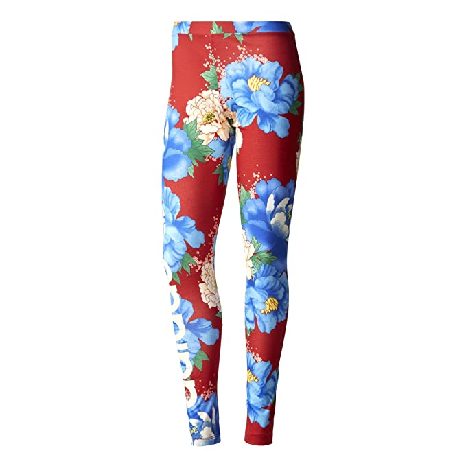 bdf01a1b6c17 adidas Originals Farm Womens Chita Floral Linear Leggings Gym Tight (XS S)