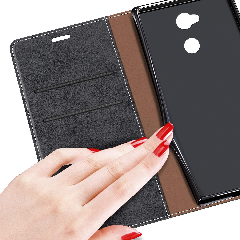 Funda Libro Sony Xperia L2 MOBESV Funda para Sony Xperia L2 Funda M/óvil Sony Xperia L2 Magn/ético Carcasa para Sony Xperia L2 Funda con Tapa Negro