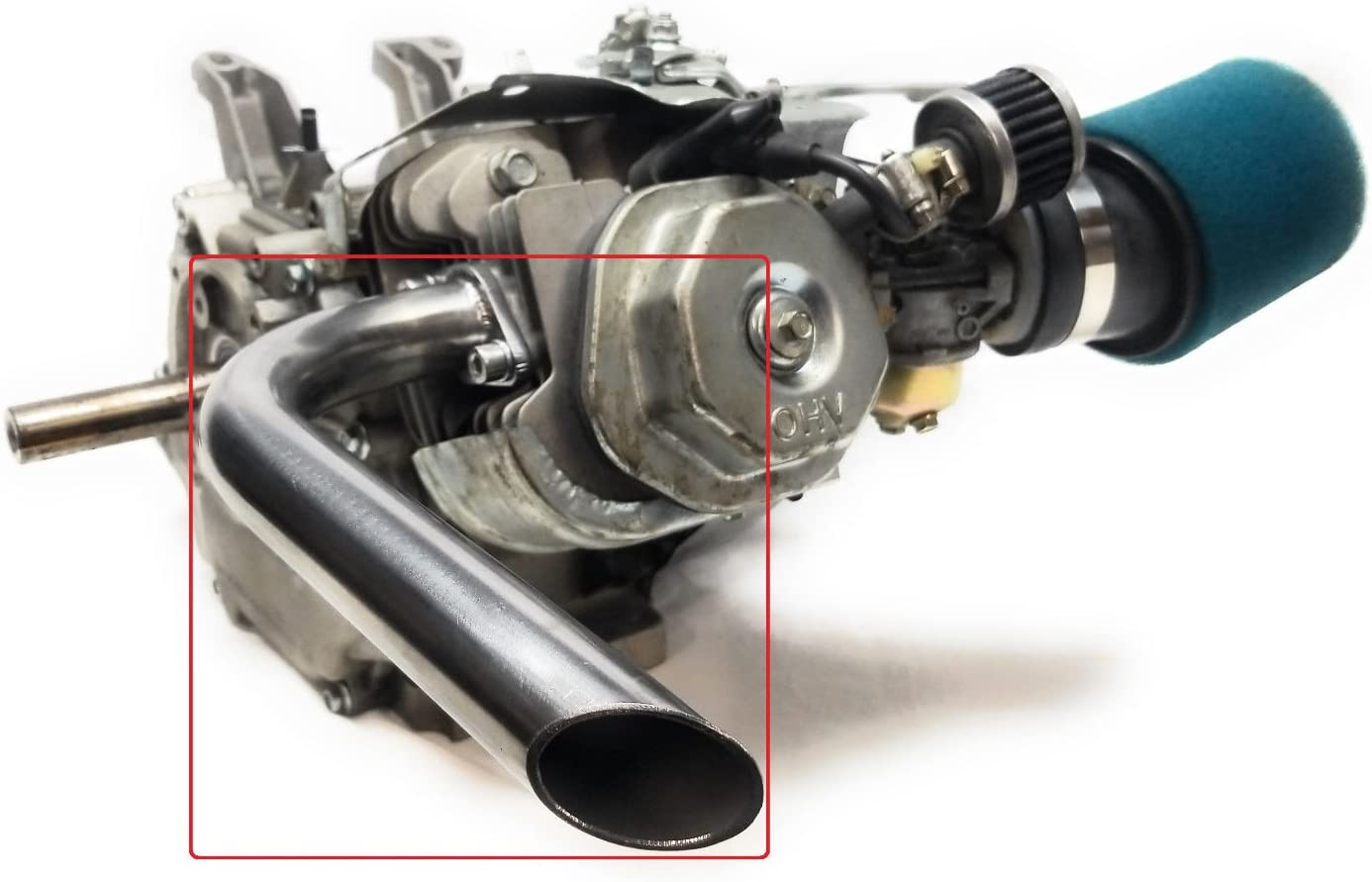 Predator 301cc & 420cc, GX 389 & 390 Header Exhaust Pipe for Go Kart, mini bikes.