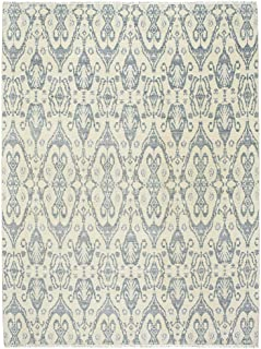 product image for Capel Burmesse-Ikat Alabaster Azure 10' x 14' Rectangle Hand Knotted Rug