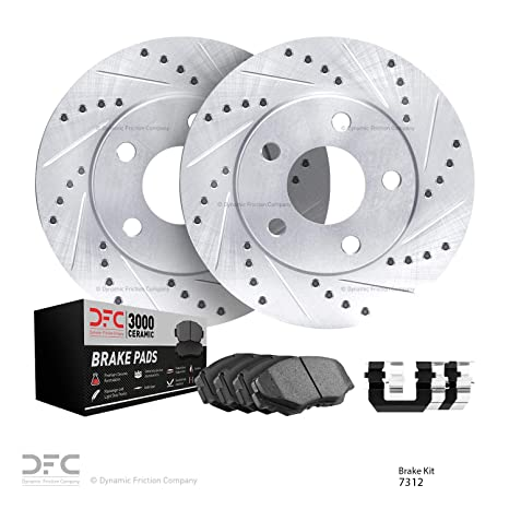 What Are Rotors On A Car >> Amazon Com Rear Dfc Brake Rotors Drill Slot Silver With