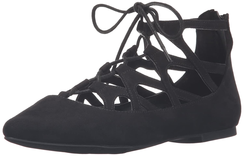 MIA Women's Anamarie Pointed Toe Flat B0105MU2KU 6 B(M) US|Black