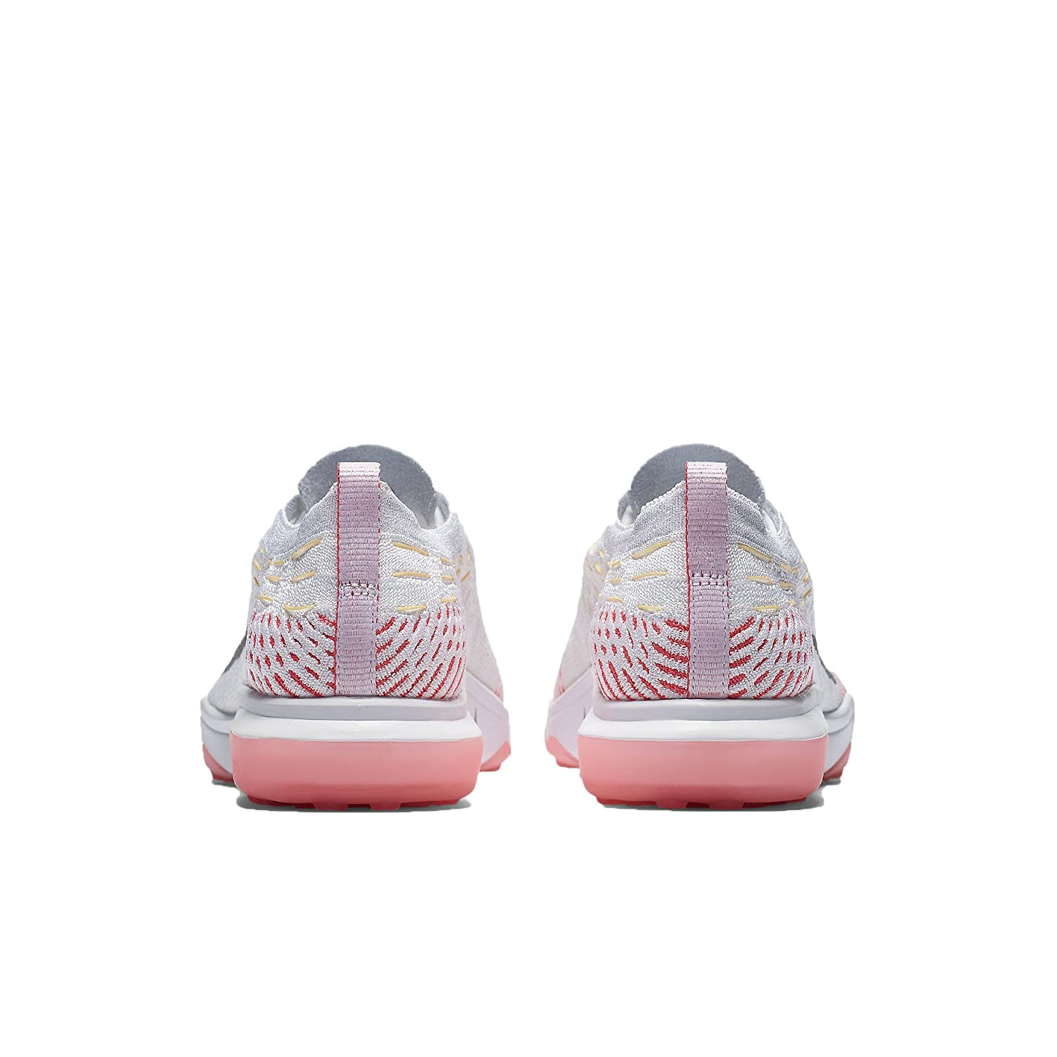 NIKE Women's Air Zoom Fearless Flyknit Running Shoes B06ZXTZL6V 6 M US|White/Racer Pink/Melon Tint/Wolf Grey