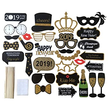 Amazoncom 2019 Photo Booth Props Kit30 Pcs Printed Wooden Sticks