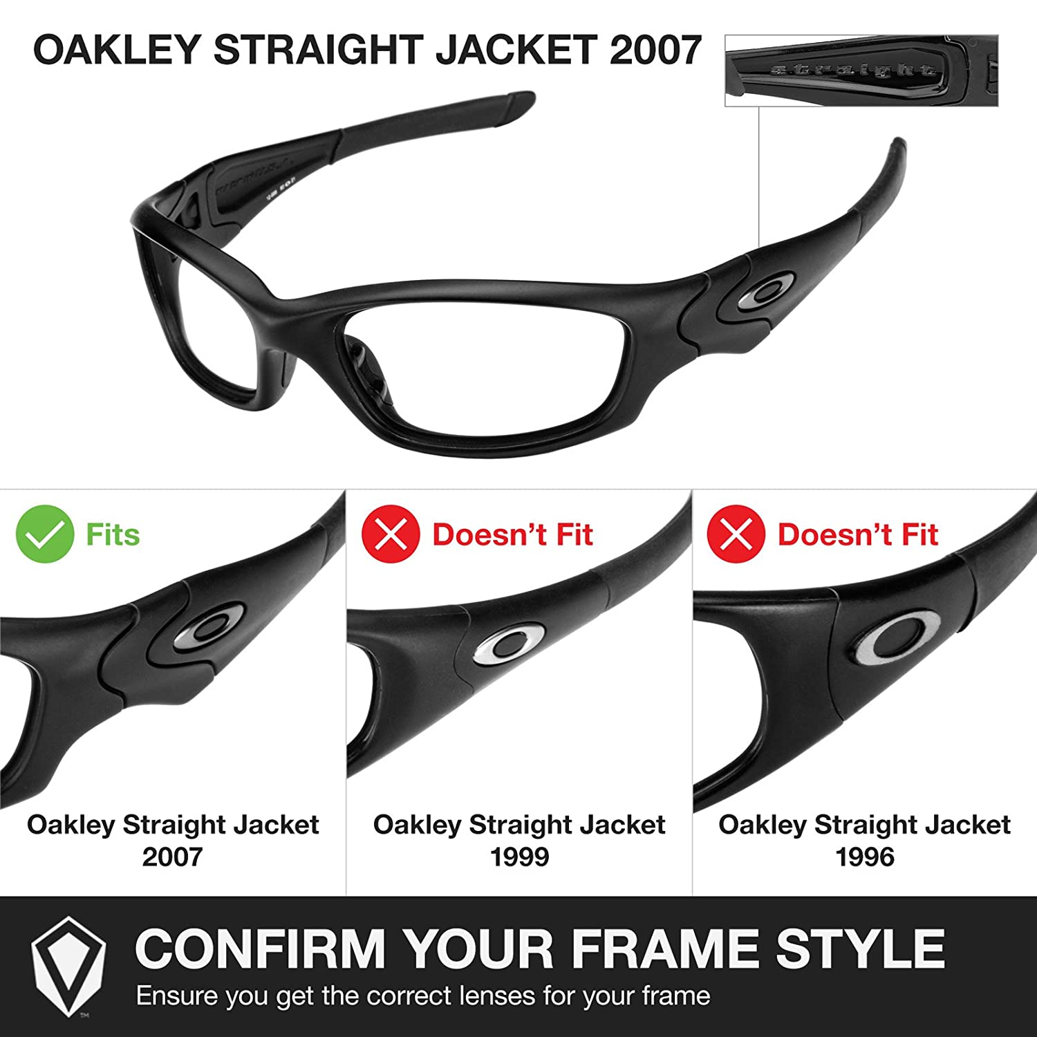 Revant Kit caoutchouc MaxGrip® Oakley Straight Jacket (2007) - Noir
