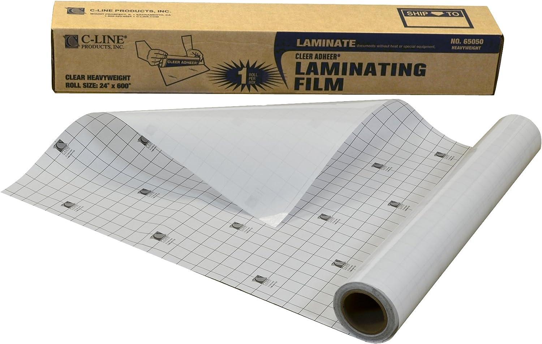 B0002ABDTU C-Line Heavyweight Cleer-Adheer Laminating Film Sheets, Clear, 24 x 600 Inches, Roll (65050) 71d1XFWzxkL