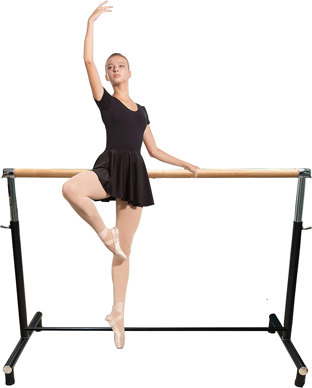 Image of Ballet Equipment Ballet Barre Portable for Home or Studio, Freestanding Adjustable Bar for Stretch, Balance, Pilates, Dance or Active Workouts, Well-Balanced with Non-Slip Fit, Kids and Adults