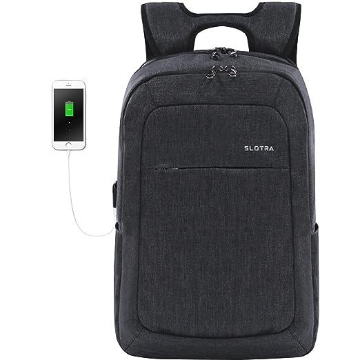 21 opinioni per SLOTRA Zaino Porta PC 15,6 Pollici Leggero con Porta USB Cerniere Antifurto