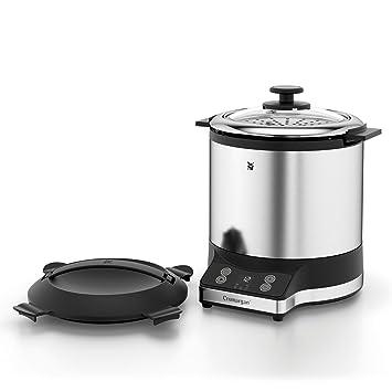WMF KÜCHENminis® Reiskocher mit Lunch-to-go-Box , Damfgarer, platzsparend, Extra To-Go-Deckel macht den Innentopf (1,0l) ohne