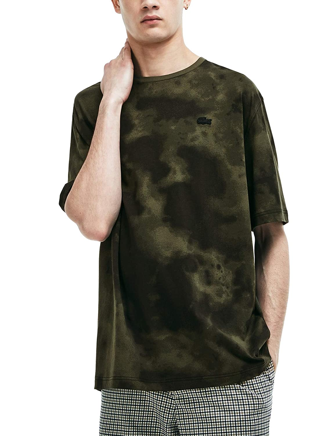 6ae69dbd Lacoste Men's Tie-Dye Short-Sleeved T-Shirt Green in Size Medium:  Amazon.co.uk: Clothing