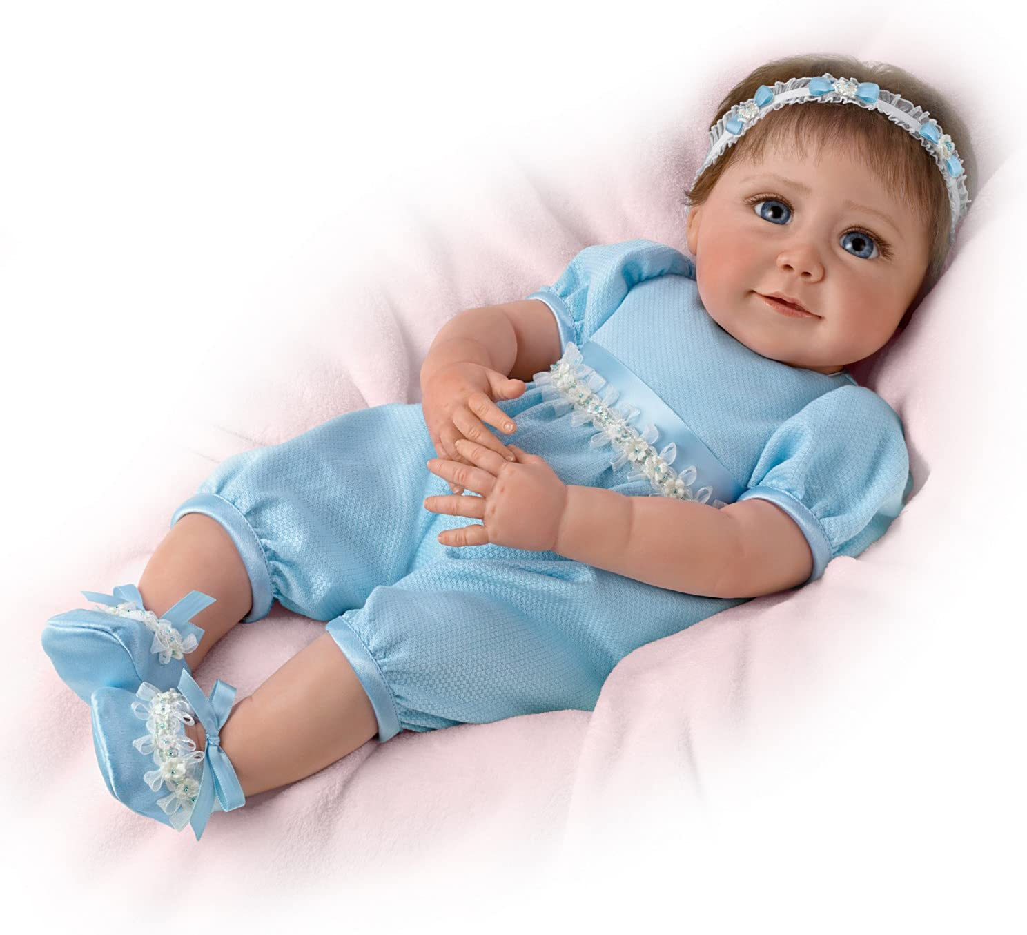 The Ashton-Drake Galleries Sherry Miller Lifelike Baby Doll with Hand Rooted Hair by