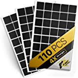 """Magnetic Squares - 110 Self Adhesive Magnetic Squares (Each 4/5"""" x 4/5"""") - Flexible Sticky Magnets - Peel & Stick Magnetic Sh"""