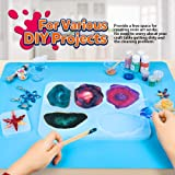 2 Pack 59.5 x 49.5 cm Oversize Silicone Mats for