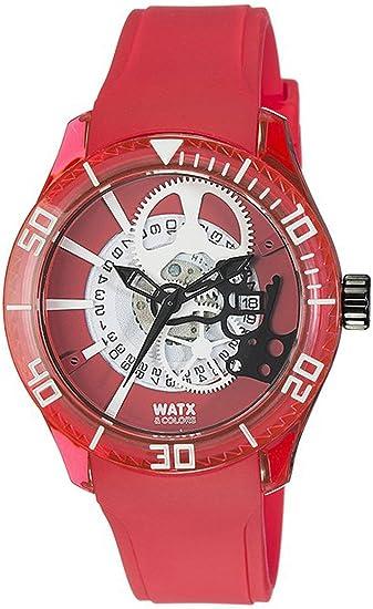 Watx Reloj Análogo clásico para Hombre de Cuarzo con Correa en Caucho REWA1919