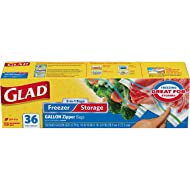 Glad Food Storage and Freezer 2 in 1 Zipper Bags - Gallon - 36 Count