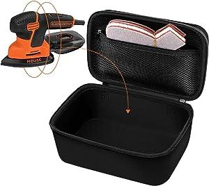 Portable&Carrying Case for Black+Decker Mouse, Compact Detail Sander BDEMS600, Power Detail SandersStorage Holder with Accessories Pocket.