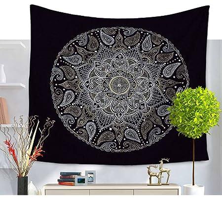 schwarzweiss Mandala flor con geome trischem redondo patrón ...