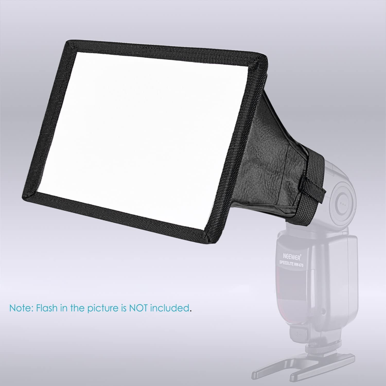 Neewer Collapsible Studio Softbox Flash Diffuser Compatible with Canon 430EX II 580EX II 600EX-RT Nikon SB600 SB800 SB900 Neewer TT560 Sigma Pentax Olympus Panasonic Lumix Flashes etc
