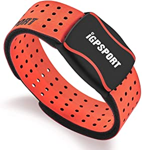 iGPSPORT HR60 Heart Rate Monitor Sensor Armband ANT+ and Bluetooth - Red
