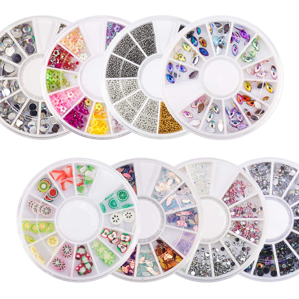 Mixed Color 3D Nail Art Decoration In Wheel AB Color Acrylic Diamond Crystals Nails Accessories Nail Art Rhinestone For Nail DIY 017 by DKjiaoso
