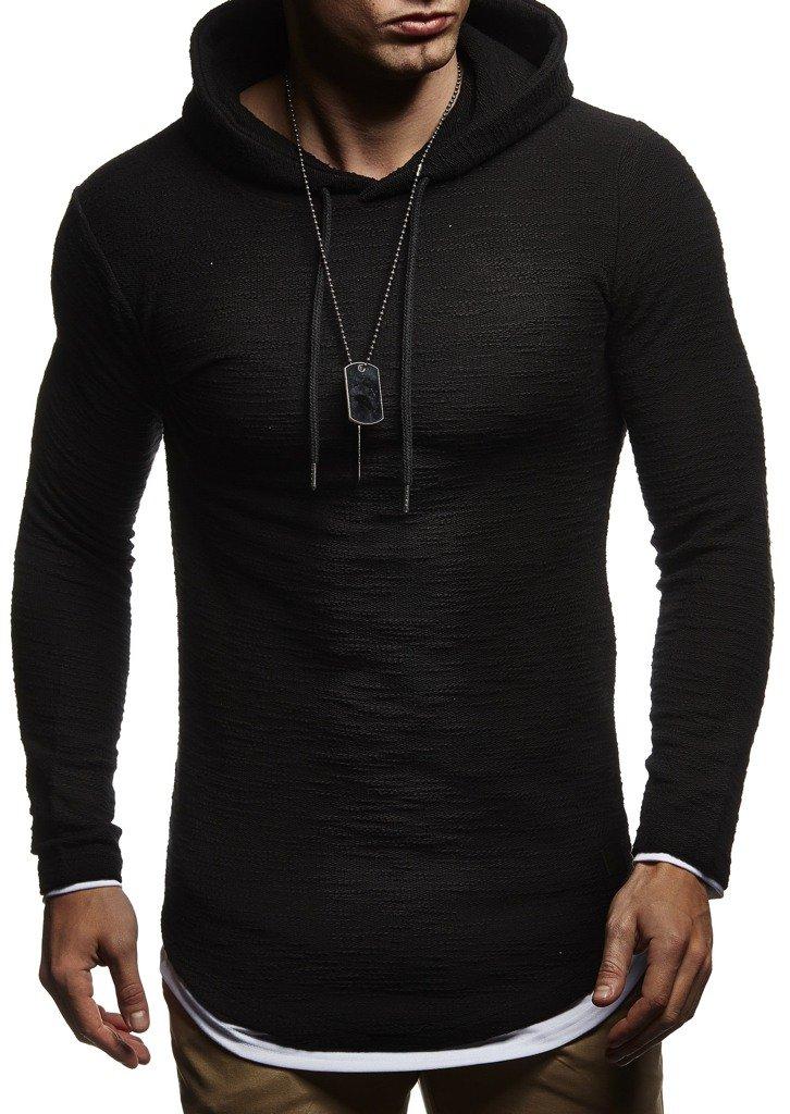 Leif Nelson Hoodie Pullover Mens Slim fit Long Sleeve t-Shirt Sweater Sweatshirt
