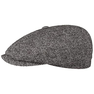 fb5d05af875 Stetson Hatteras Wool Herringbone Flat Cap Ivy hat  Amazon.co.uk ...