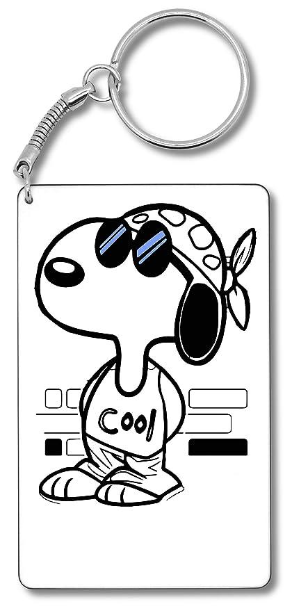 Snoopy Joe Cool Blue Sunglasses Llavero Llavero: Amazon.es ...