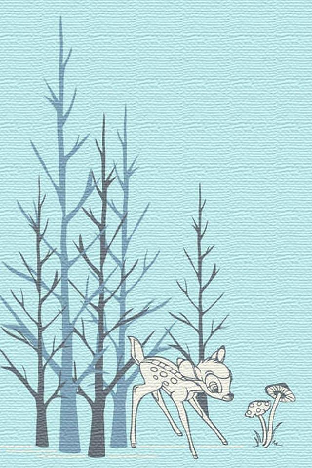 ディズニー バンビ iPhone(640×960)壁紙画像