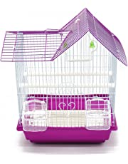 BPS Bird Cage Metal avec Feeder Drinker Swing Jumper Color Bucket Envoyer au Hasard 30 x 23 x 39 cm BPS-1164