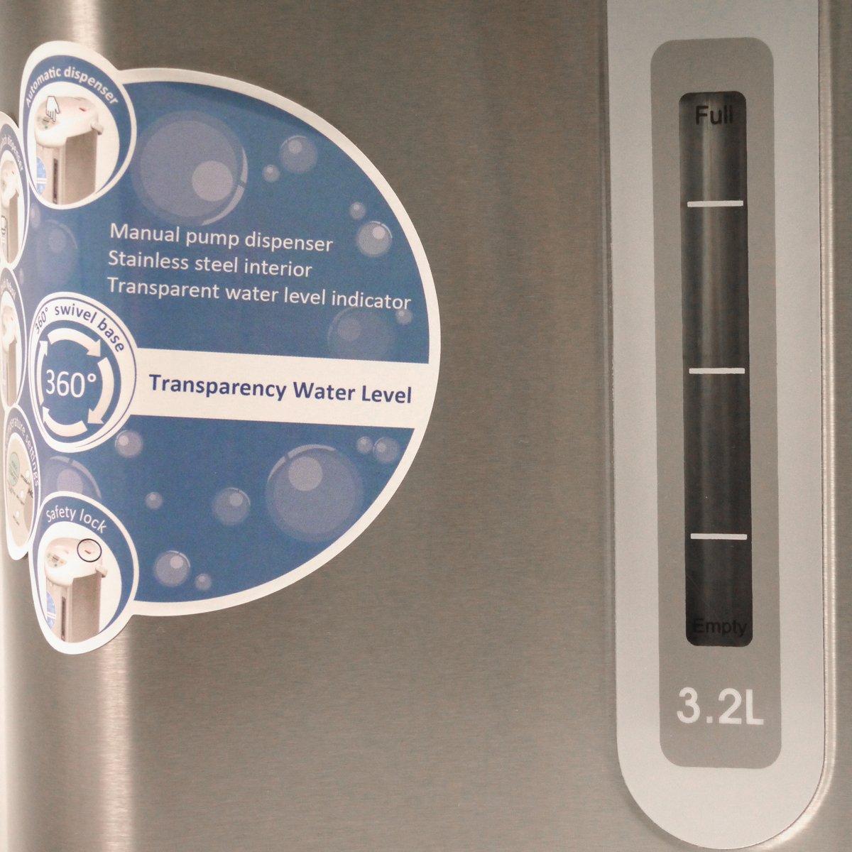 HOMEIMAGE 3.2 Liter / 3.38 Quarts Electric Thermo Hot Pot - HI-EKA32L