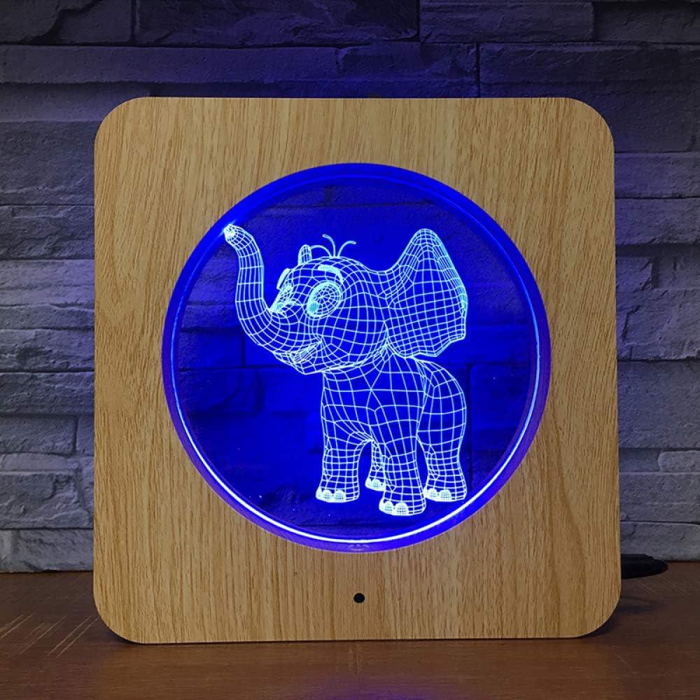 BFMBCHDJ Elefante LED Photo Frame Night Light DIY Lámpara personalizada Lámpara de mesa Niños Cumpleaños 7 colores Decoración para el hogar: Amazon.es: Iluminación