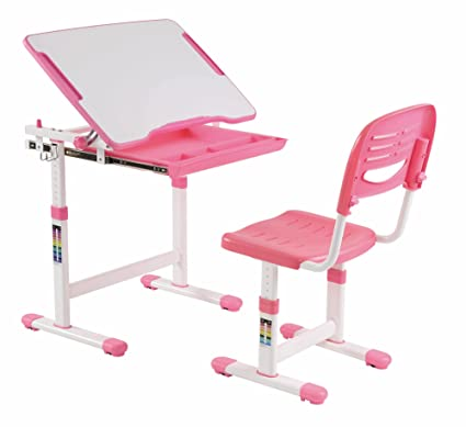 KIDOMATE Kids Height Adjustable Study Table With Auto Height Lock And  Tiltable Desk   Maintains Posture