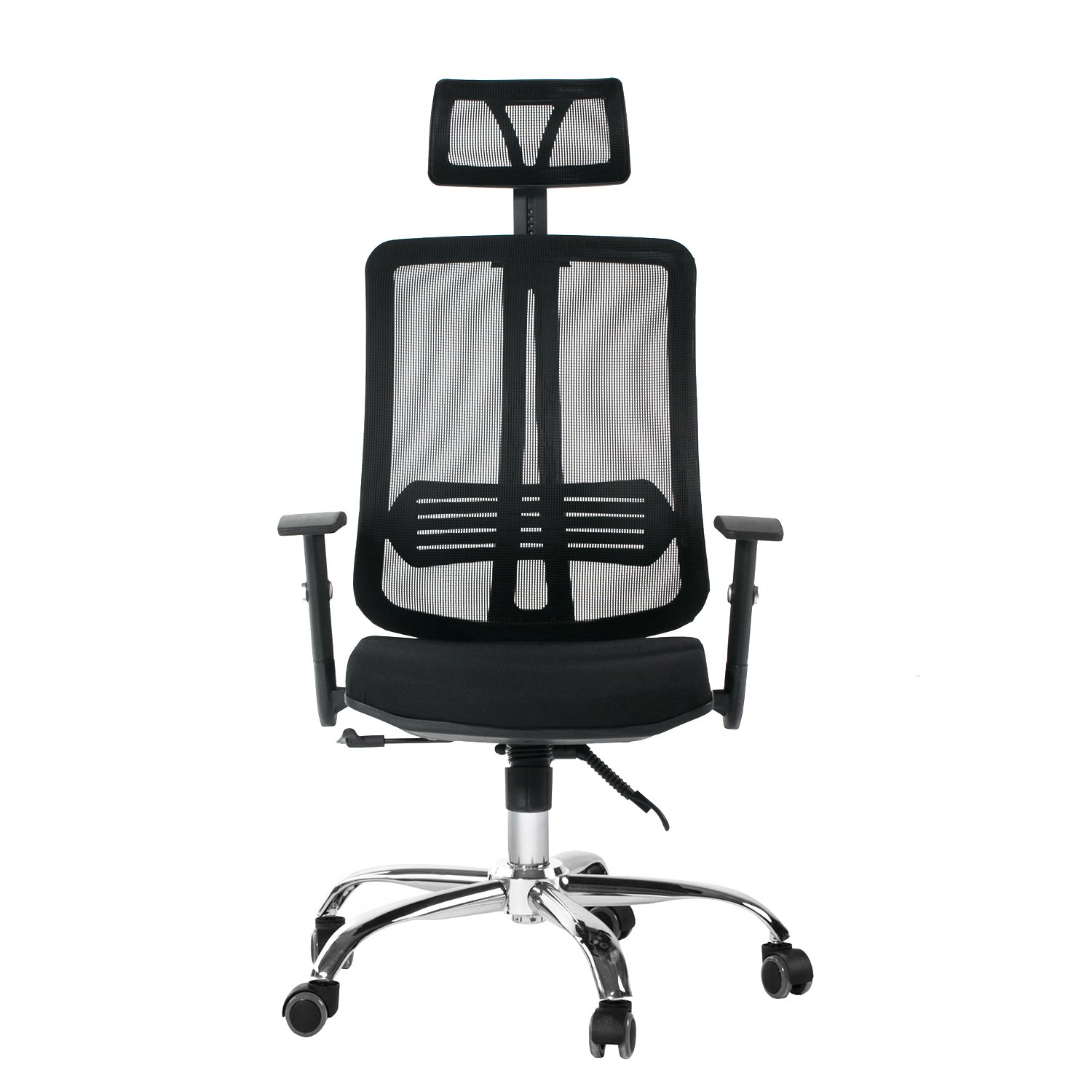 CCTRO Mesh Ergonomic Office Chair with Adjustable Headrest and Padded Flexible Armrest, 360 Degree Swivel Modern Computer Task Chairs for Home Office Conference Room