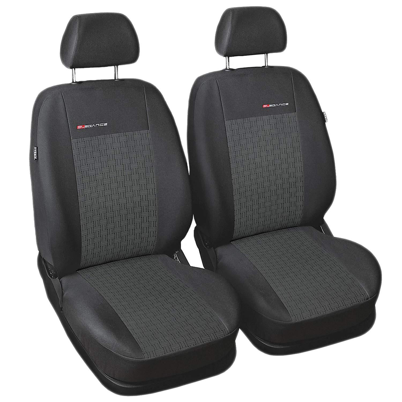 Housses Si/ège Auto Avant Voiture avec Airbag Syst/ème Elegance P2 Gris