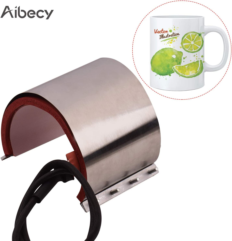 Entweg Mug Press,Mug Cup Press Heating Transfer Attachment Silica Gel 11oz(1223.5cm) 110V for Heat Press Machine Transfer Sublimation