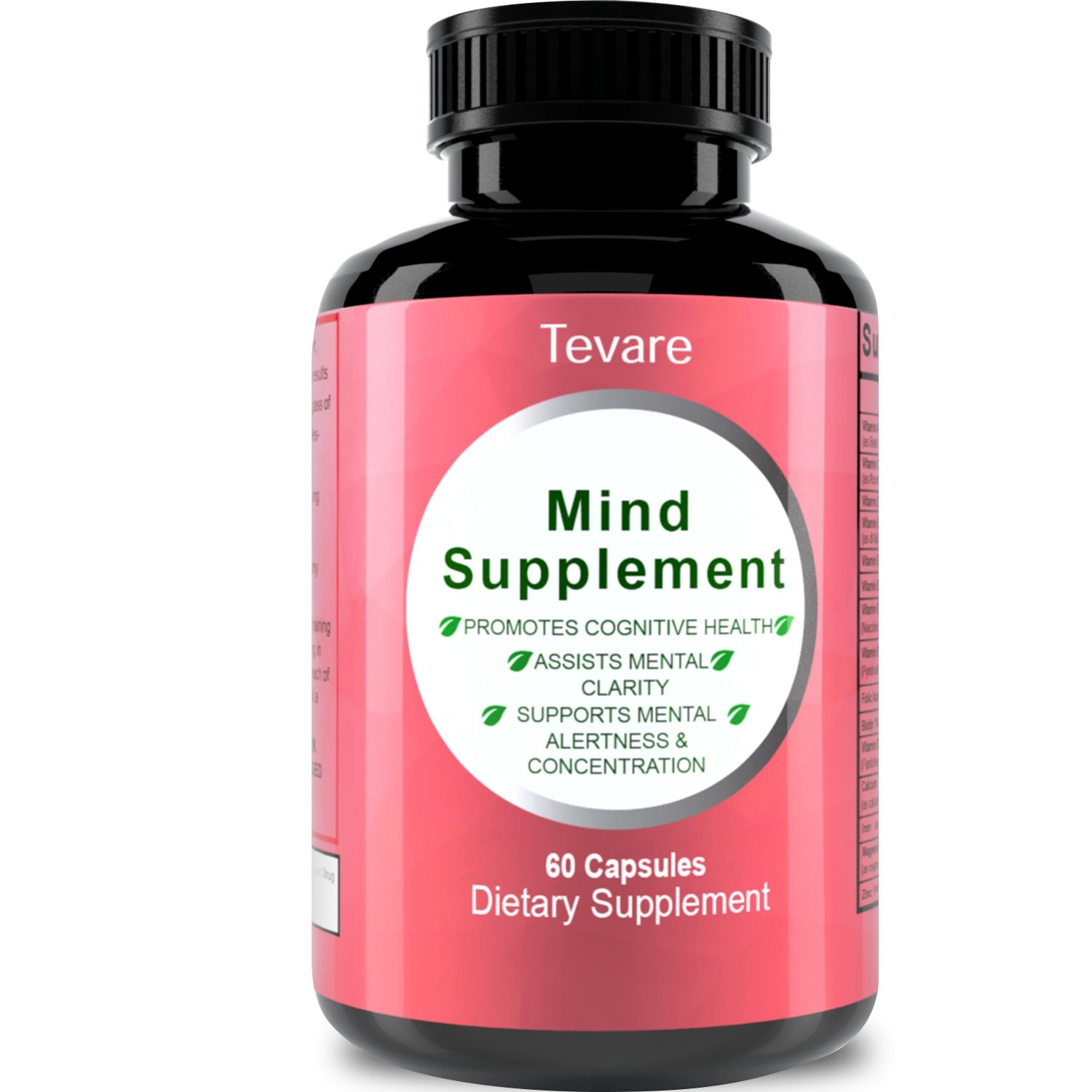 Memory Booster - Focus Enhancer - Mind Supplement with Pure and Natural Green Tea Leaf + DMAE Bitartrate + Glutamic Acid + Bacopa Extract - Mind Matrix Cognitive Nutrition Pills Nootropic By Tevare by Tevare (Image #2)