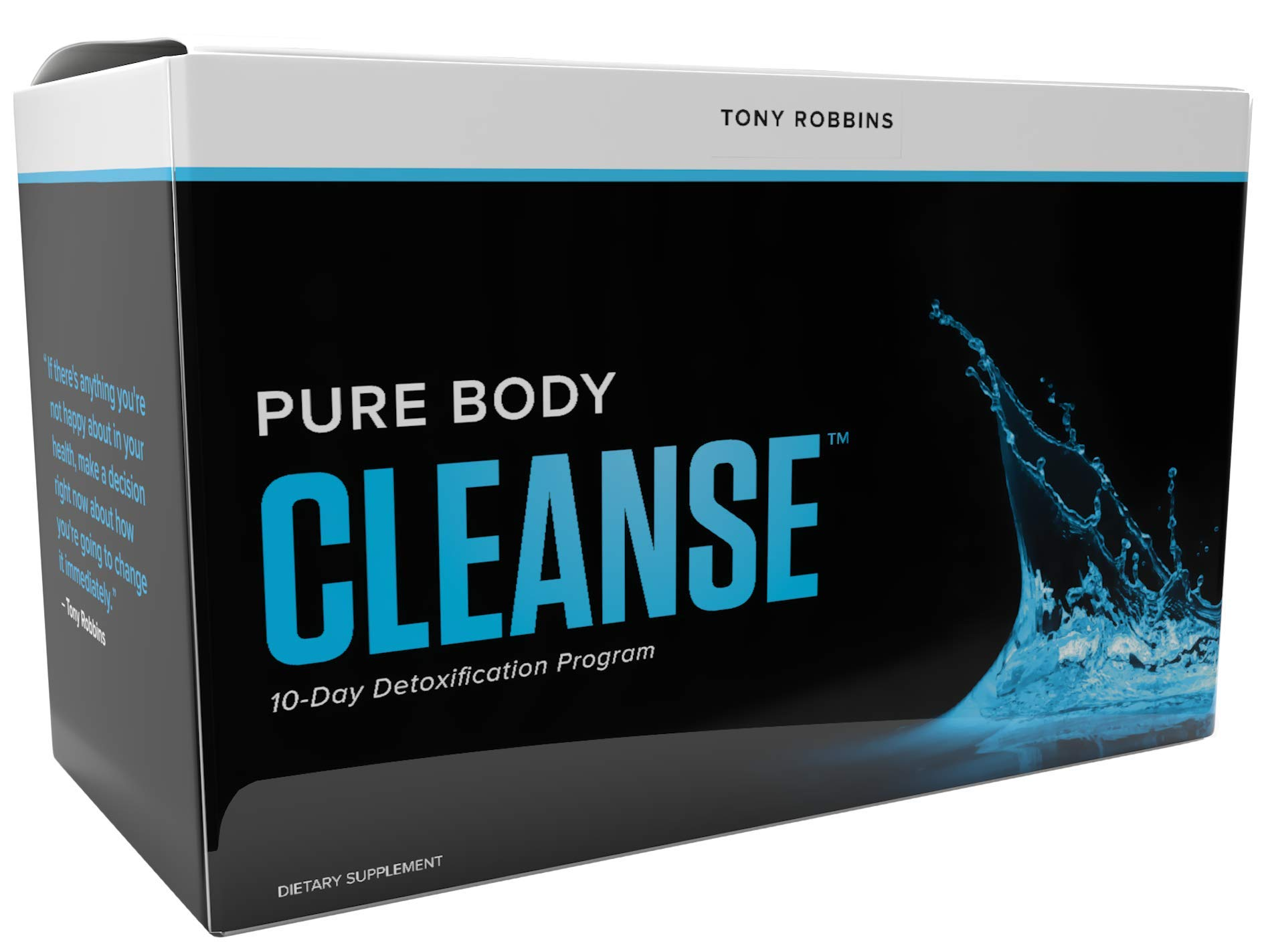 Tony Robbins Pure Body Cleanse - 10 Day Detox Program (20 Drink Mix + 20 Capsule Packets)