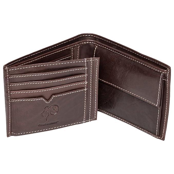 Northern Leather - Cartera para hombre de piel Hombre Marrón marrón Talla única: Amazon.es: Ropa y accesorios