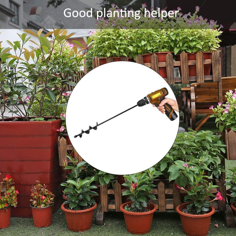 Pflanzgefäß Garten Bohrer Spiral Bit Blumen Pflanzen Loch Gräber Aufstecker