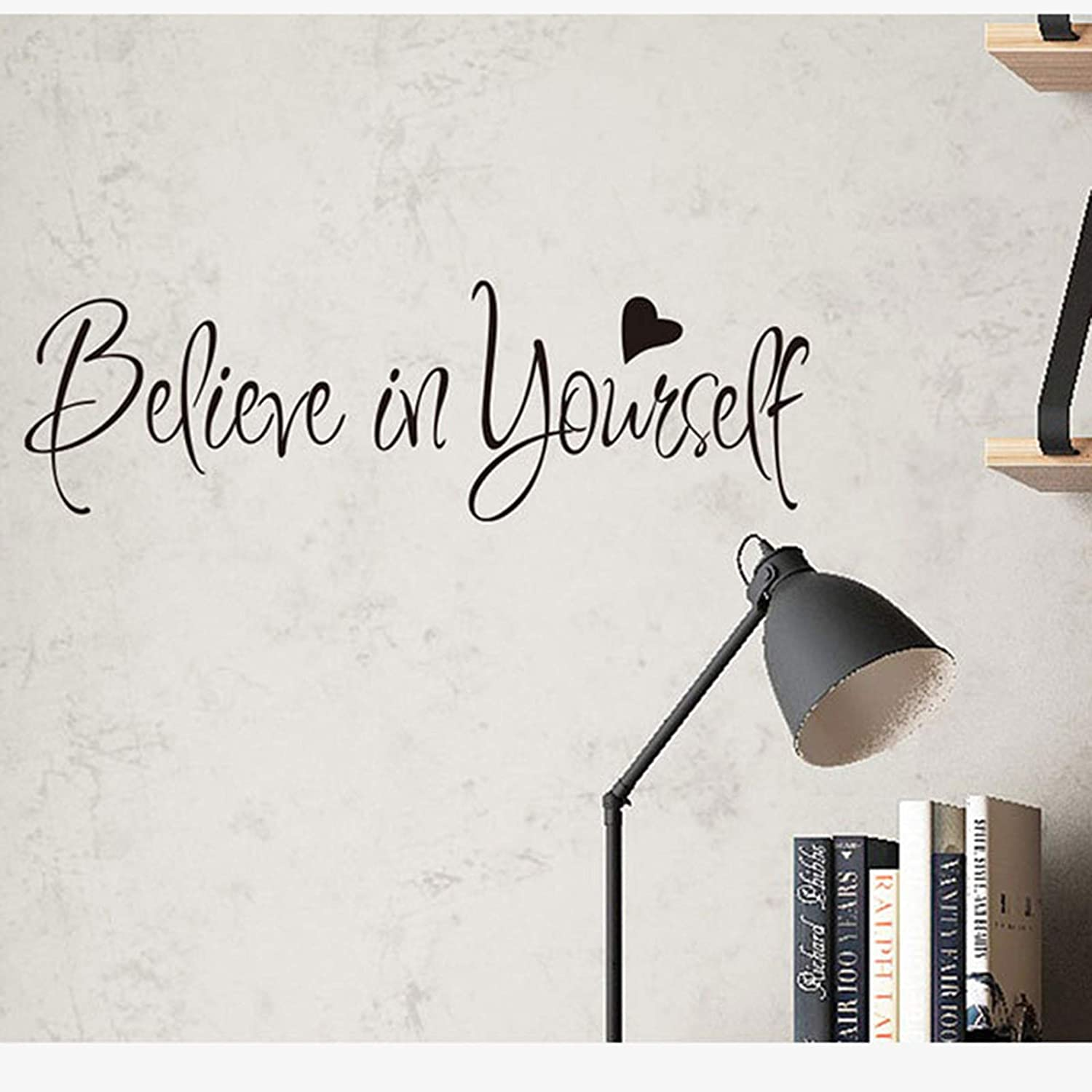 Believe in Yourself Wall Decals Stickers Positive Wall Sayings Motivational Wall Quotes Peel and Stick Words Letters Decor for Bedroom, Classroom
