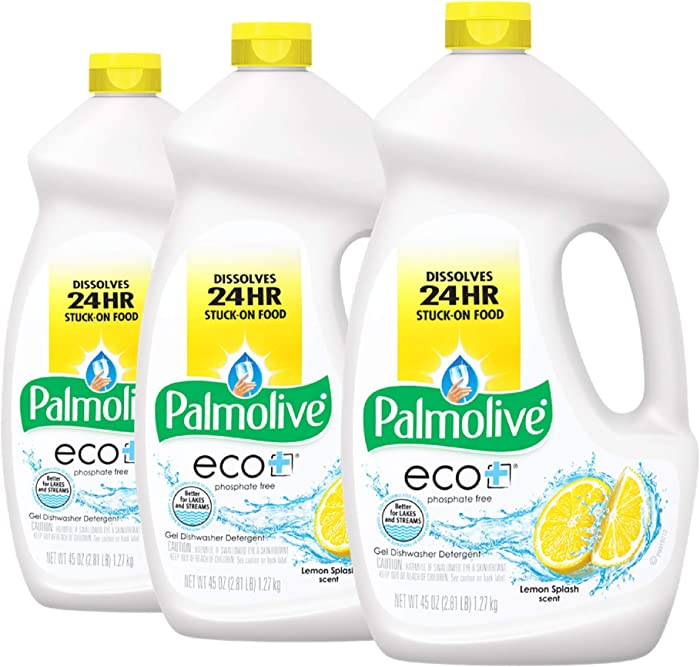 Palmolive Eco Gel Dishwasher Detergent, Lemon Splash - 45 Oz (3 Pack)