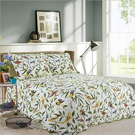 GJXY Bedspread Unimall Colcha 100% Colcha algodón orgánico Set Acolchado Colcha Acolchado para el patrón de Doble Remiendo, 2 Fundas,230 * 250cm: Amazon.es: Hogar