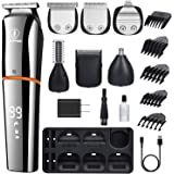 Ceenwes Beard Trimmer for Men 6 In 1 Hair Clippers Cordless Waterproof Multi-functional Grooming Kit USB Rechargeable Hair Tr