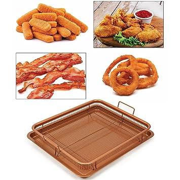 yunt cajón para cestas y bandejas chapado en de cobre cajón cuadrado antiadherente Seguro, bandeja