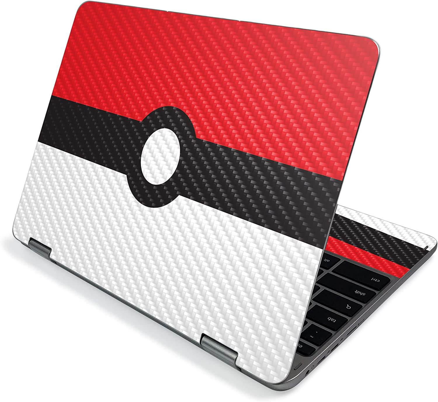 """MightySkins Carbon Fiber Skin for Samsung Chromebook Plus V2 12"""" (2019) - Battle Ball 